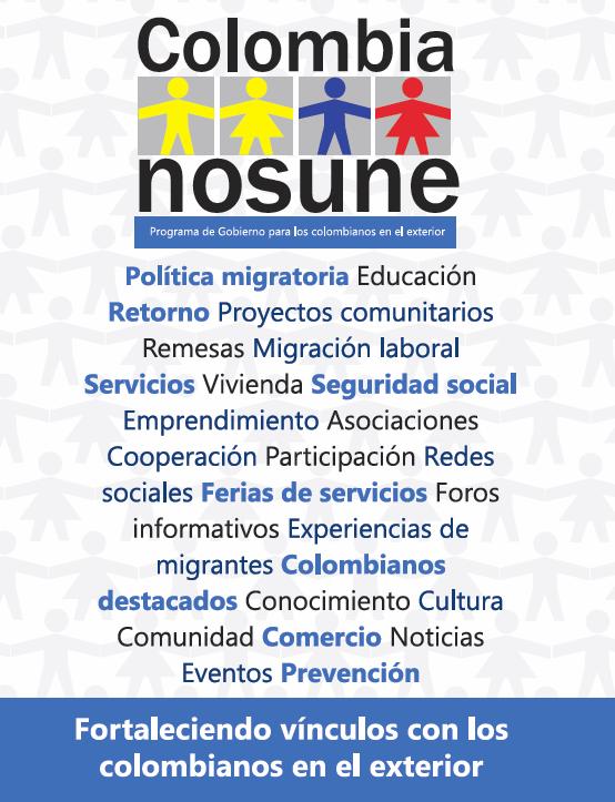 Programa Colombia Nos Une Consulado De Colombia En Palma De Mallorca